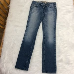 Paige Blue Heights Low Rise Skinny Jeans  Sz 26